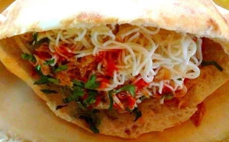 Asian Meatball Sandwich