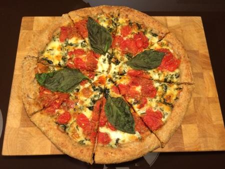 Fresh-Baked and Sliced Margarita Pizza