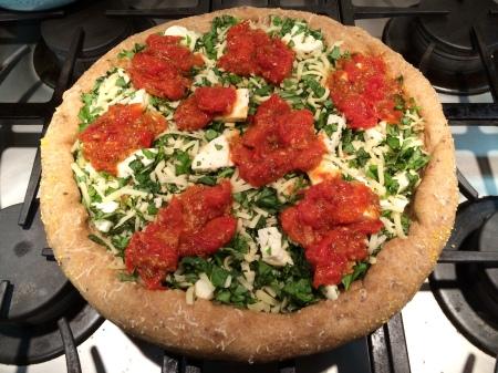 Uncooked Margarita Pizza