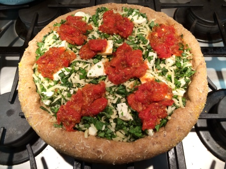 Uncooked Margarita Pizza
