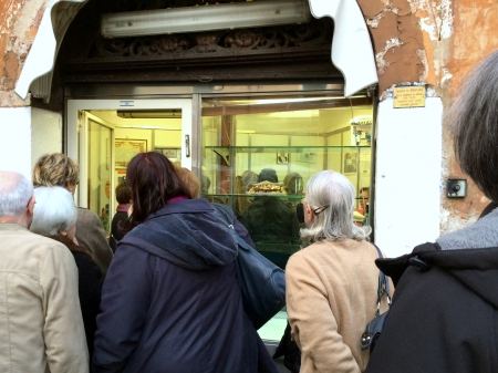 Crowd Outside Il Boccione
