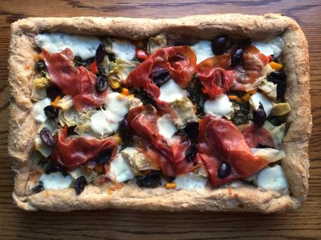 Prosciutto and Artichoke Pizza