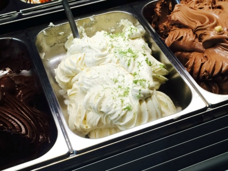White Chocolate Gelato with Lime Zest
