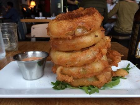 Vidalia Onion Tower at Burger Up